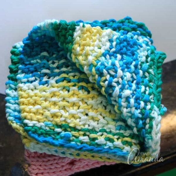 How To Knit Dishcloth Pattern Great Beginner Project