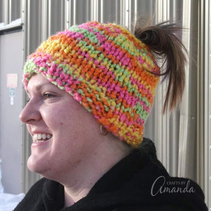 Messy bun hat, ponytail hat