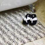 This Knit Bath Mat features an easy but still fun bamboo stitch, 100% cotton yarn, and is perfect for any season knitting, and of course gift giving!