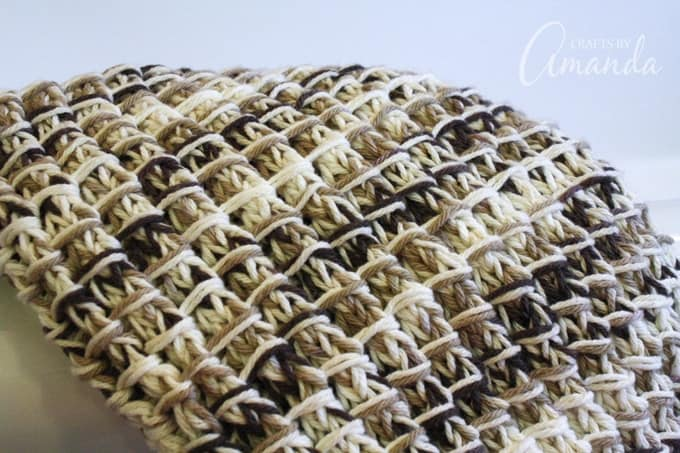 Knit Bath Mat bamboo stitch