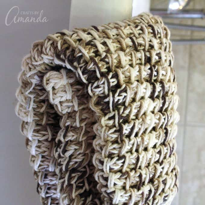 bamboo stitch knitted bath mat