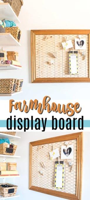 farmhouse memo board pin image