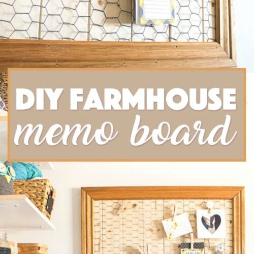 Create your own farmhouse inspired DIY memo board for displaying your to-do lists as well as your favorite photos and inspirational quotes.