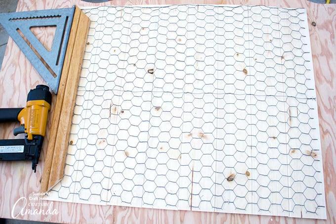 measuring lengths for scrap wood frame