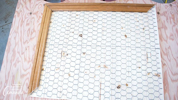 How to make a Farmhouse Inspired DIY Memo Board step 7
