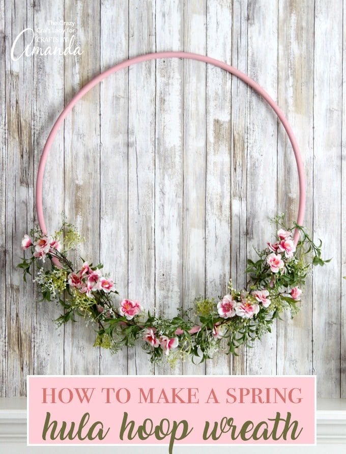 hula hoop wreath make a giant cherry blossom hula hoop wreath. Black Bedroom Furniture Sets. Home Design Ideas