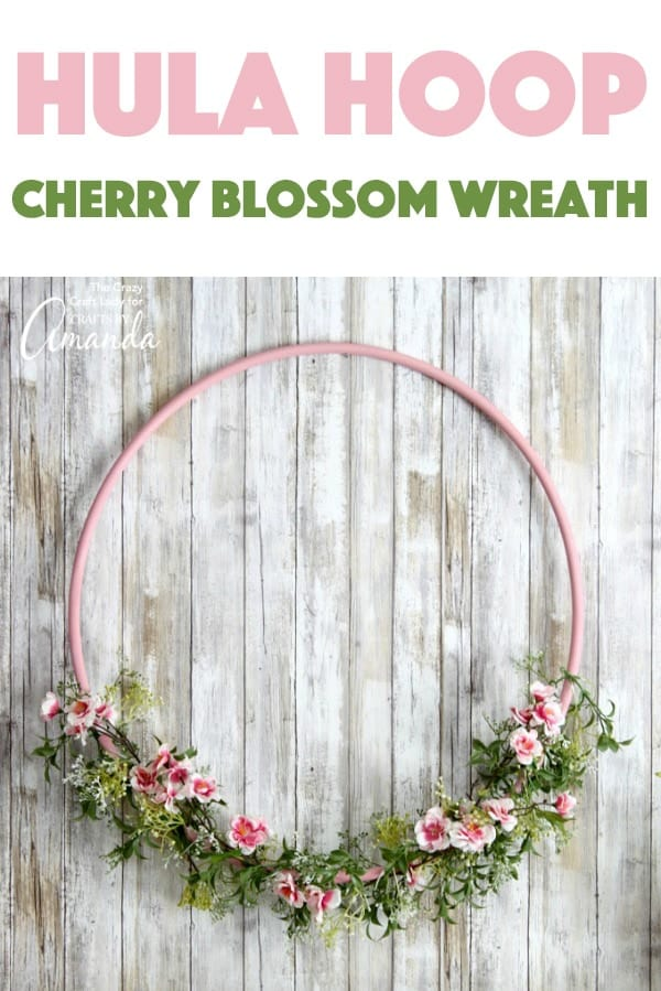 Spring Cherry Blossom Hula Hoop Wreath