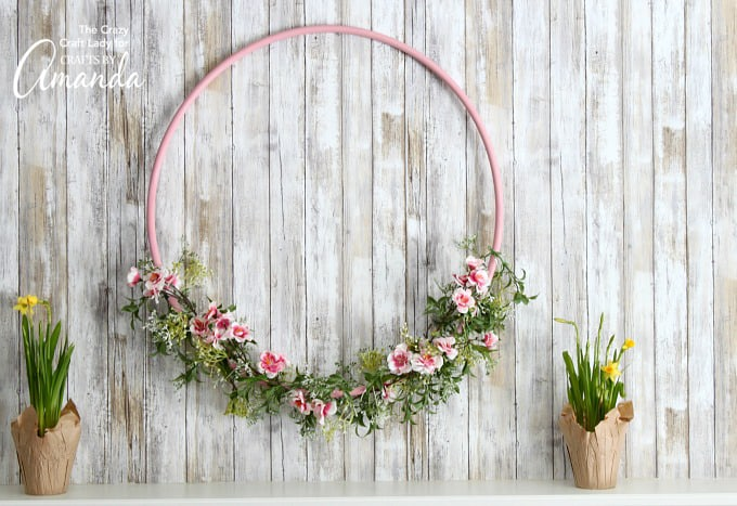Hula Hoop Wreath Craft