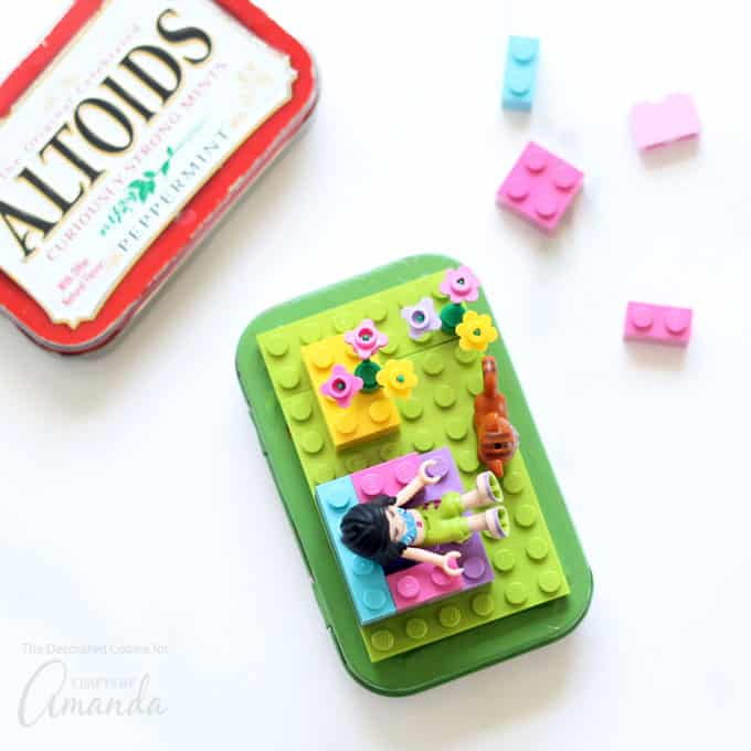 Recycled craft: Lego Altoid Tins above shot