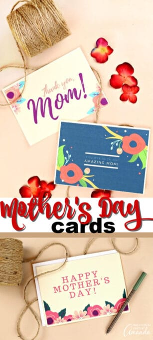 printable mother's day cards pin image