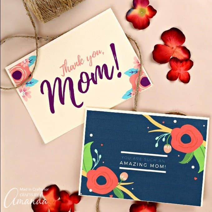 free printable mother's day cards with floral print