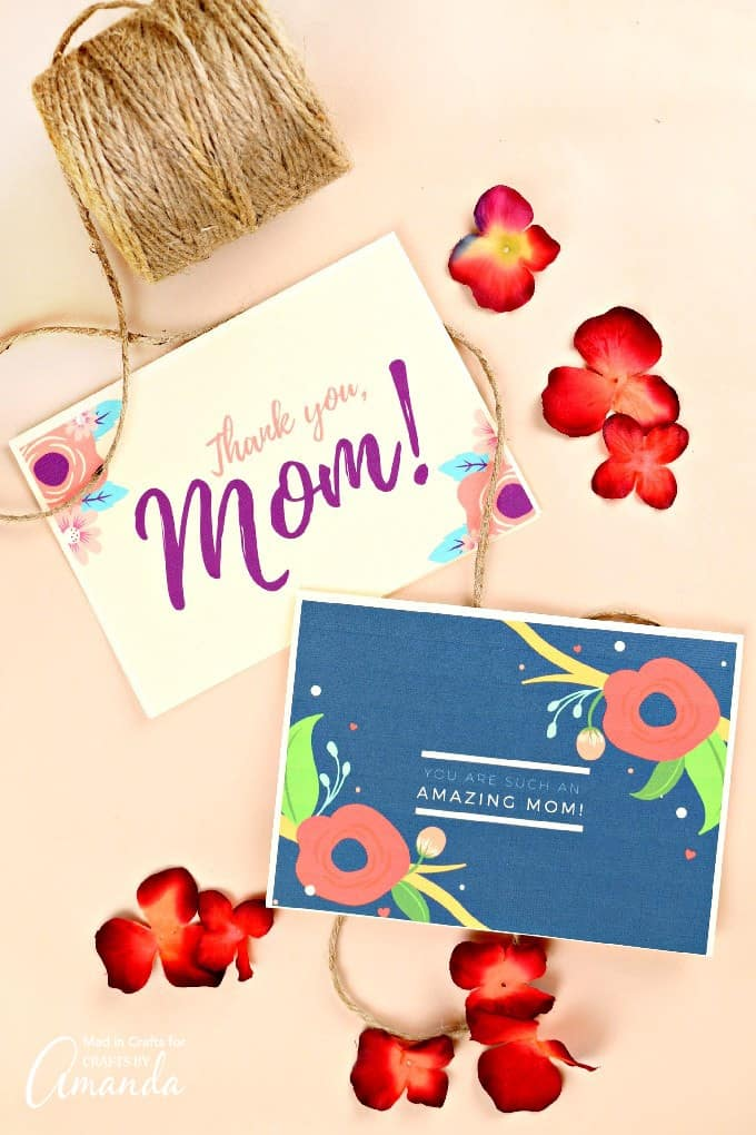 Floral Printable Mother's Day Cards