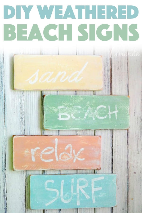 Weathered Beach Signs Tutorial