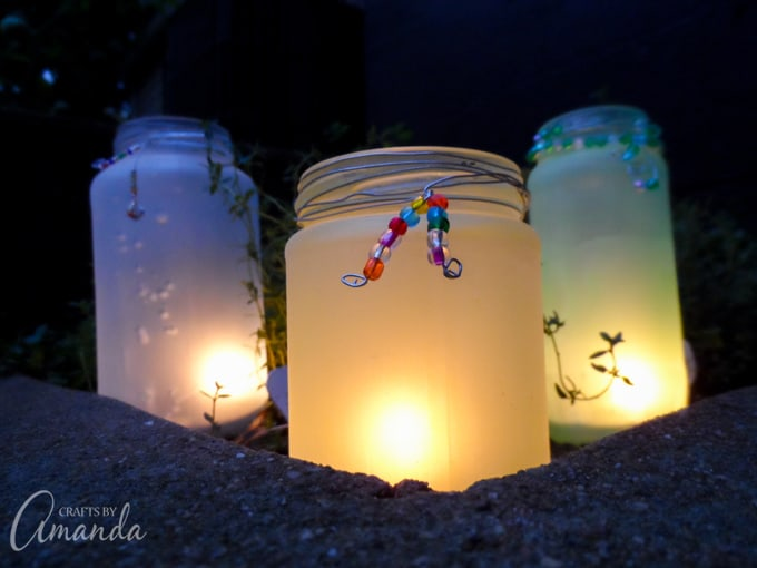 Beaded Frost Luminaries for your garden