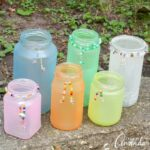 These Beaded Frost Luminaries are a great Earth Day craft. These soft colored luminaries will add just the right amount of soft color and light to any garden or path in your yard.