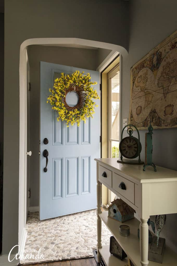 Tutorial - make a Forsythia Wreath for your door
