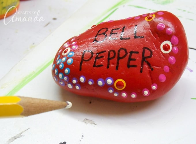 How to make Painted Rock Garden Markers step 5