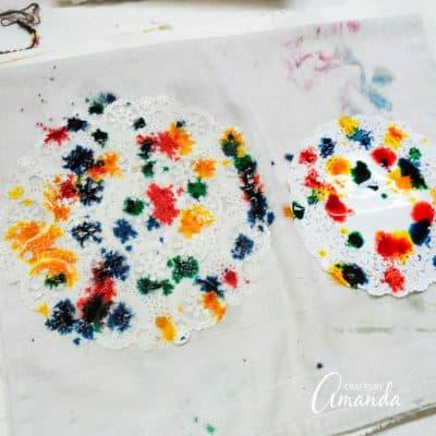 Paper Doily Butterflies step 2