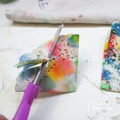 Paper Doily Butterflies step 6