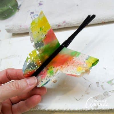 Paper Doily Butterflies step 7