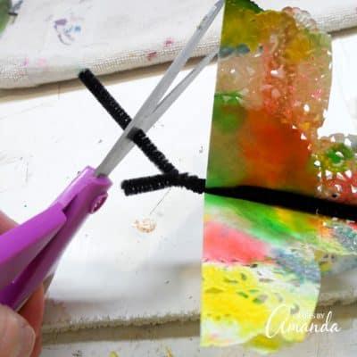Paper Doily Butterflies step 8