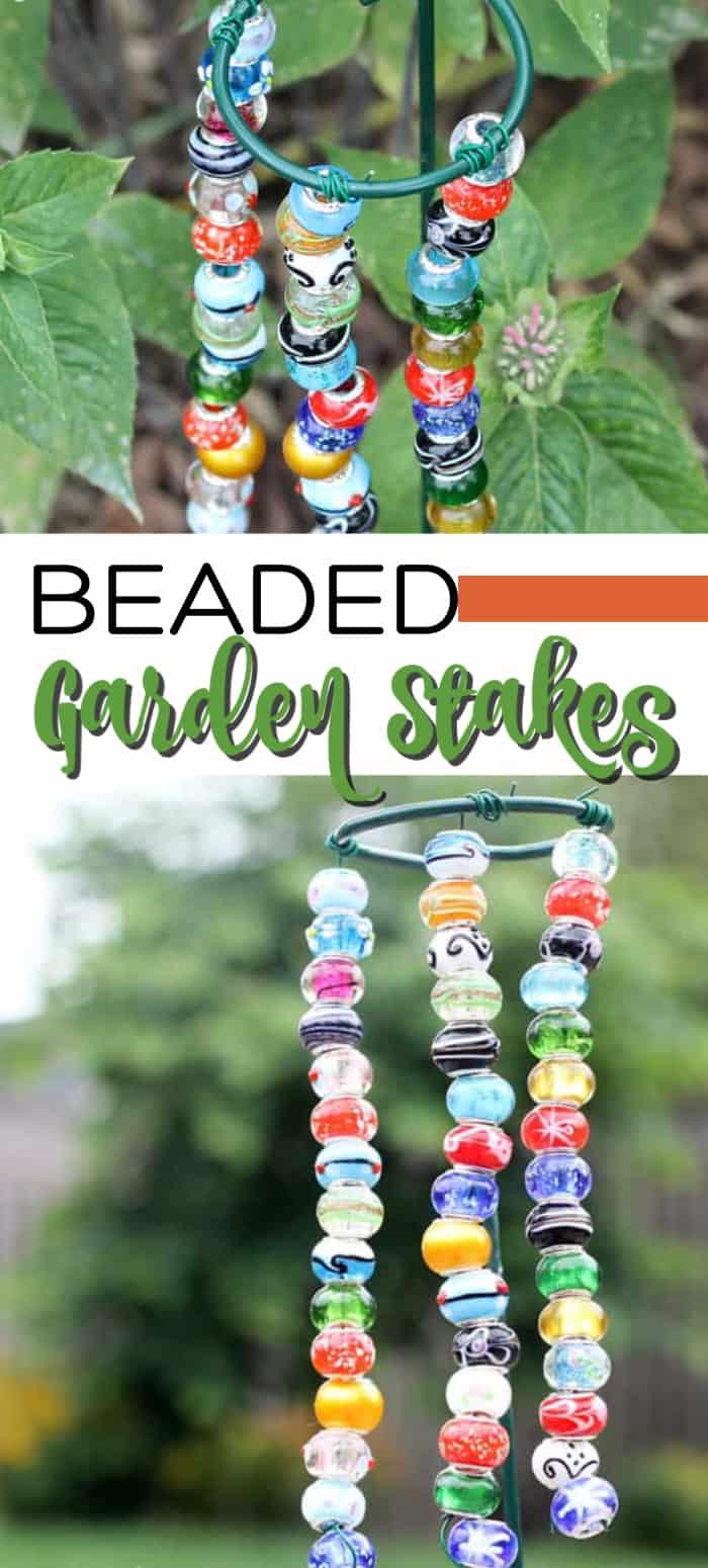 beaded garden stakes