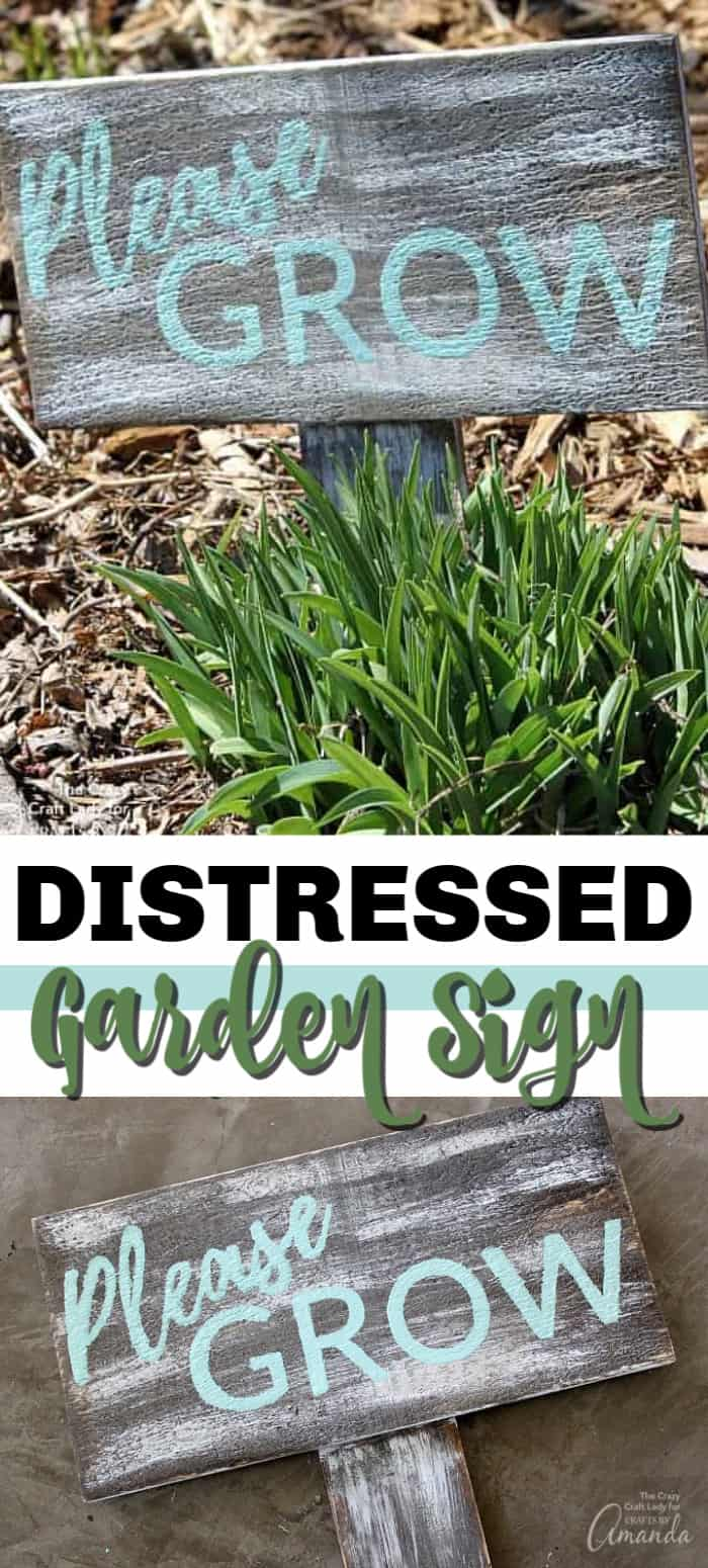 Distressed Garden Sign: easily create your own garden sign!