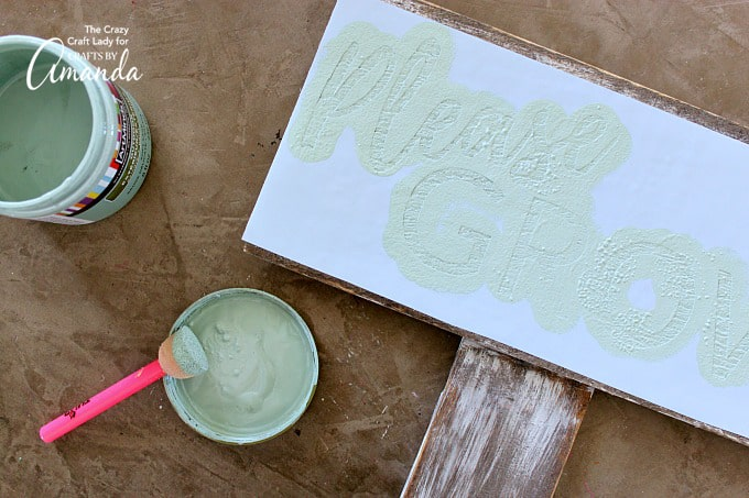 How to make a distressed garden sign step 5
