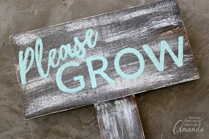 How to make a distressed garden sign step 6