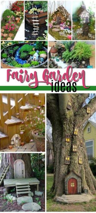 fairy garden ideas pin image