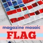 magazine mosaic flag pin image