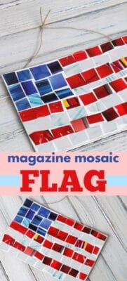 magazine mosaic flag pin image