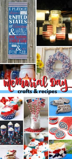 memorial day crafts and recipes pin image