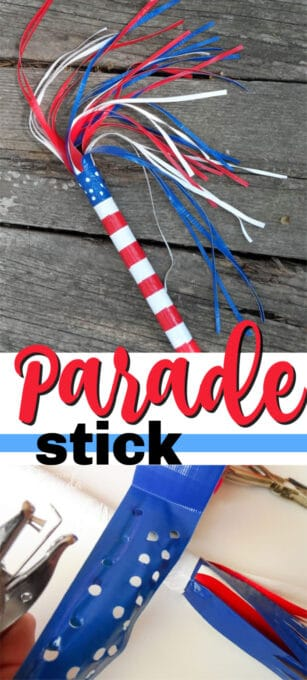 patriotic duct tape parade stick pin image