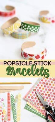 popsicle stick bracelets pin image