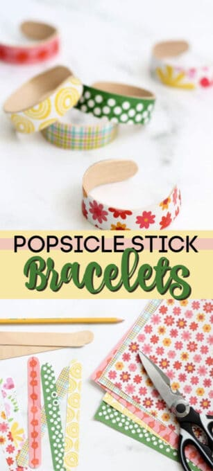 popsicle stick bracelets pin image