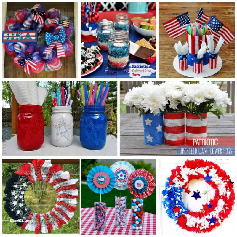 patriotic craft collage