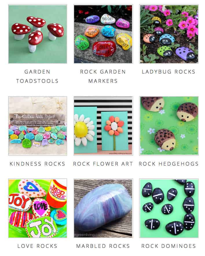 Over 20 ideas for painted rocks!