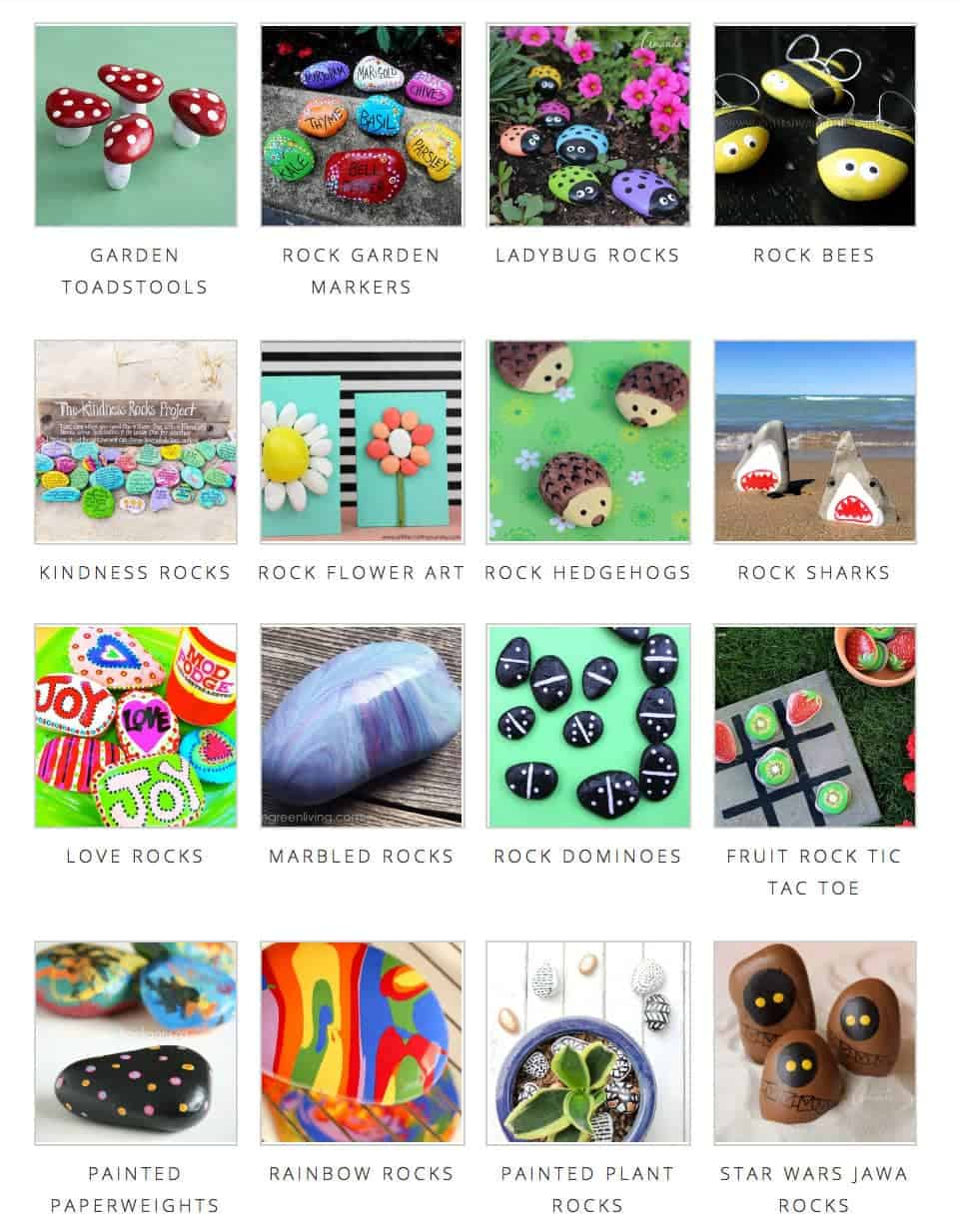 Find all sorts of ideas for painted rocks!