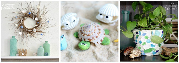Fun coastal inspired beach crafts!