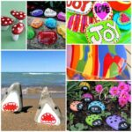 20 ideas for painting on rocks, so much fun for summer!