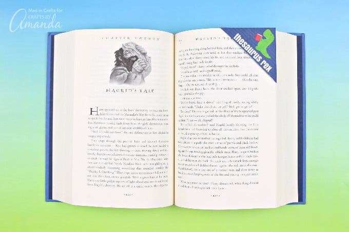 punny printable corner bookmark on book
