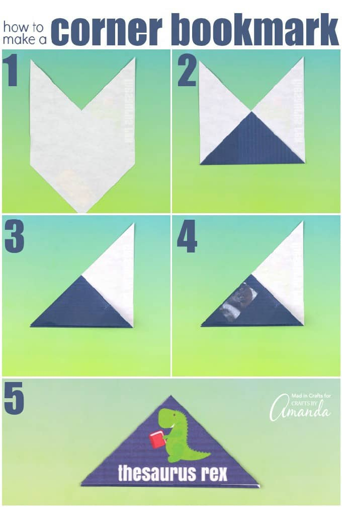 How to make punny printable corner bookmarks