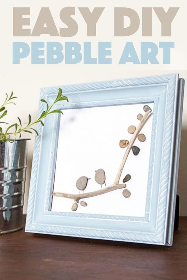 We'll show you how to recreate these two birds on a branch pebble art using some small stones and a twig easily found in your backyard.