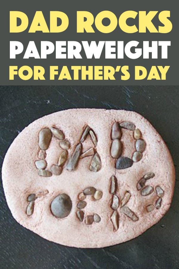 If you are looking for a last minute Father's Day gift your kids can make, this Dad Rocks Paperweight is it! It's fun to make, uses very few supplies, and there's a very high probability you already have everything on hand to make this.