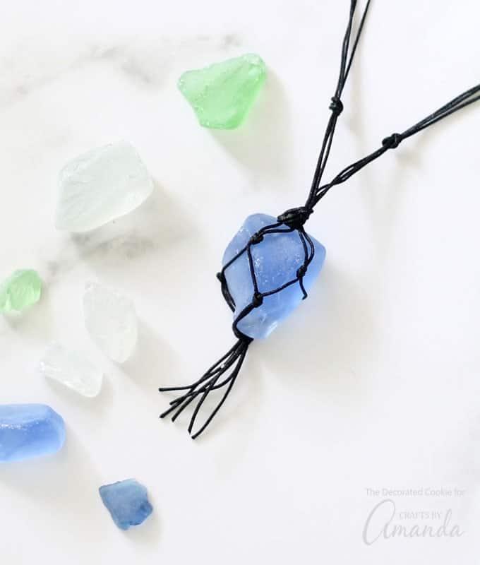 Beautiful sea glass necklace DIY