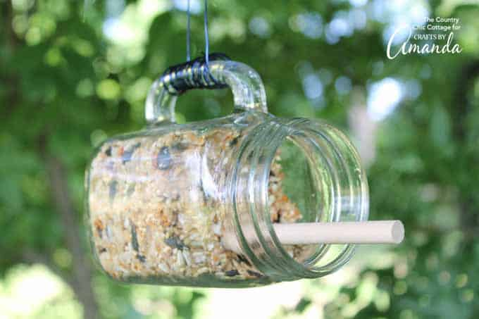 The birds will love you for this Mason Jar Bird feeder!