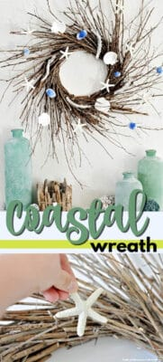 coastal wreath pin image