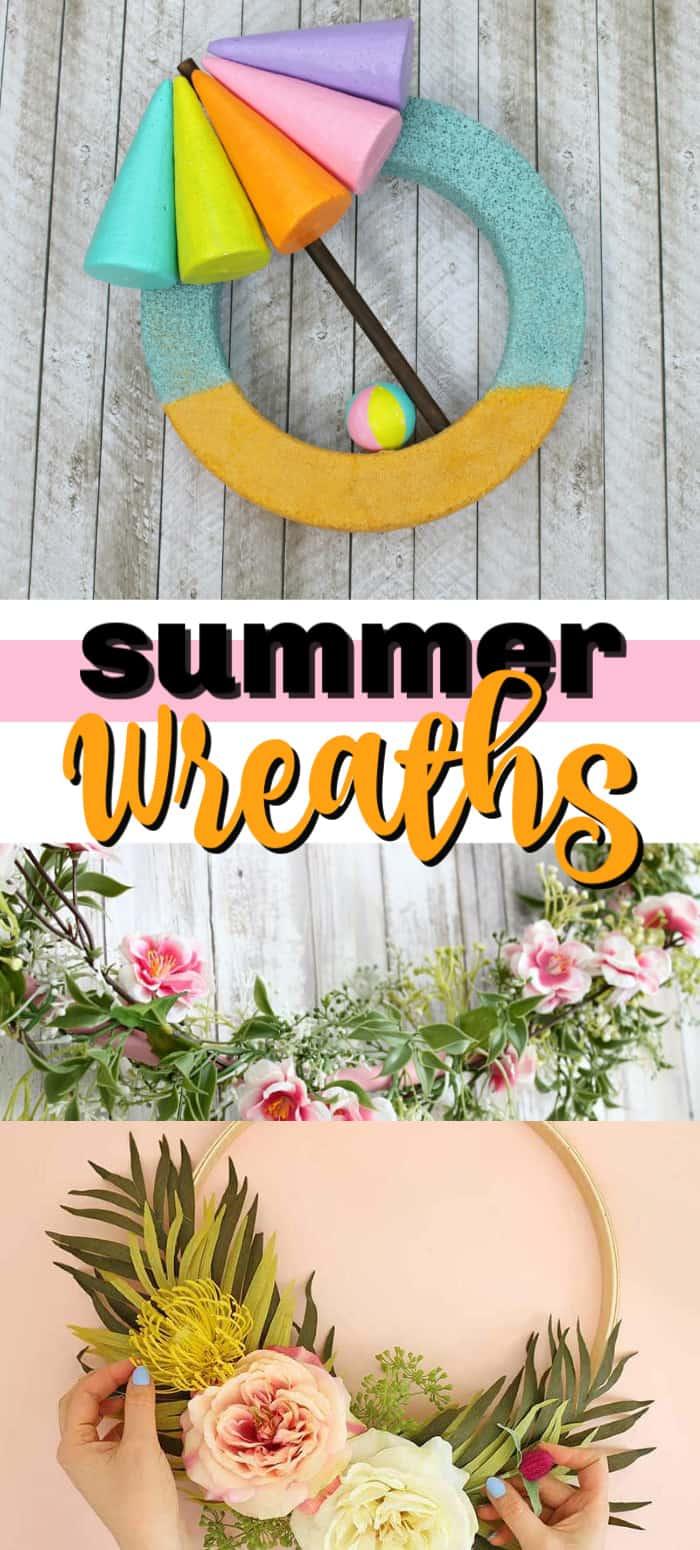 diy summer wreaths pin image