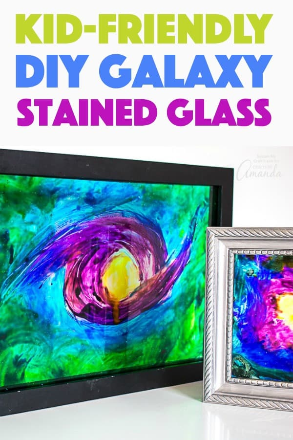 How to make faux diy stained glass art